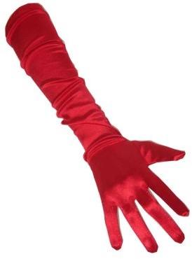 Handschoenen Satijn Rood 48cm