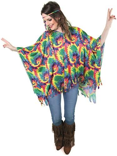 Hippie Poncho Rainbow Batik