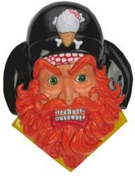 Wanddeco Piraat Oranje baard
