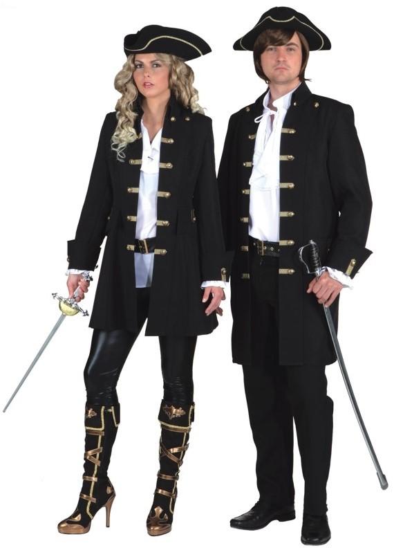 Dames Piratenjas Luxe Zwart