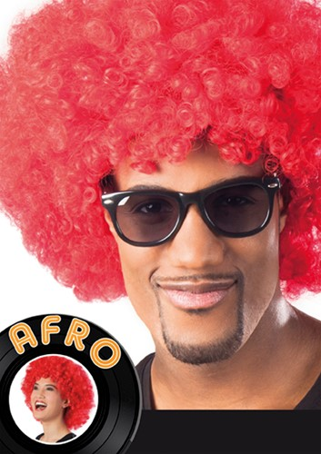 Pruik Oversized Afro Rood