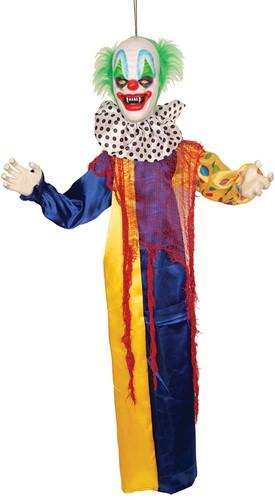 Halloween Hangdecoratie Clown met Bewegingssensor (120cm)