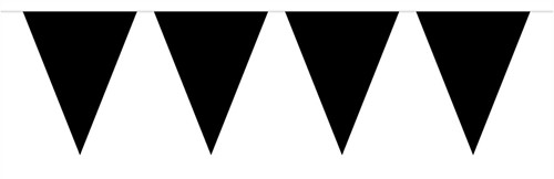 Mini Vlaggenlijn Zwart 3mtr.
