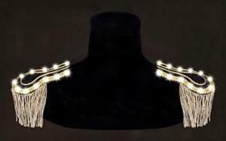 Epauletten Zwart-Goud met Witte LED-verlichting