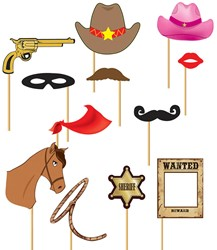 Photo Booth Props Cowboy (12 delig)