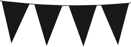 Vlaggenlijn Groot Zwart (10m)