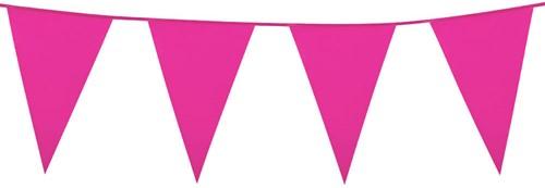 Mini Vlaggenlijn Pink 3mtr.