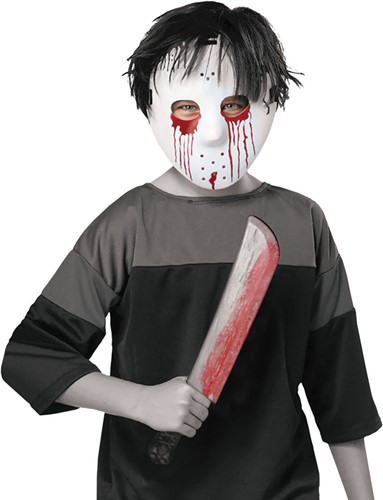 Halloween Masker en Mes Jason (Friday the 13th)