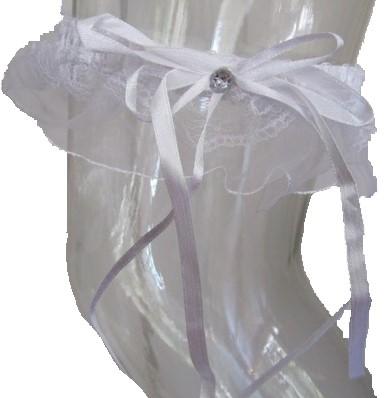 Kousenband Luxe+Strik Wit