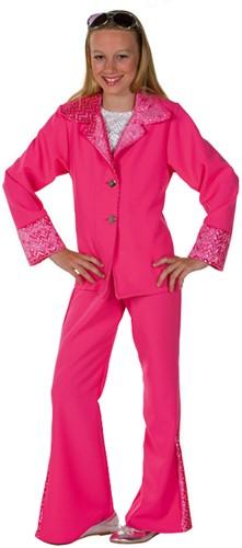 Disco Kostuum Meisjes Pink