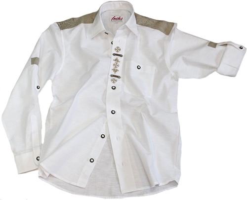 Trachtenhemd Wit Origineel Luxe