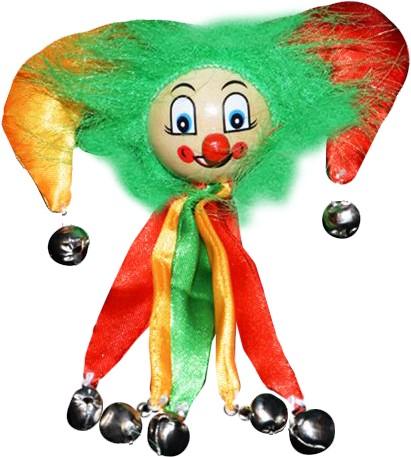 Clowns Broche Rood/Geel/Groen