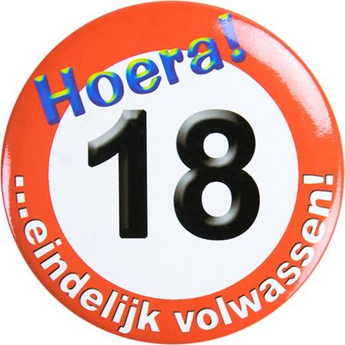 Button Hoera 18!