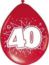 Ballonnen 40 Robijn 8st.