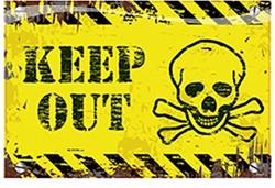 Deurbord Keep Out