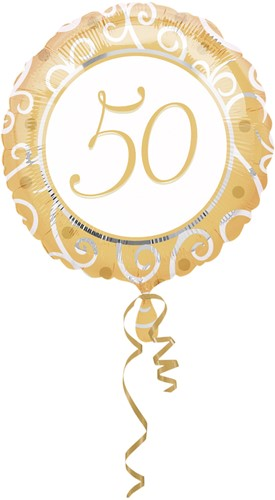 Folieballon 50 Goud (43cm)