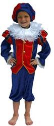 Zwarte Piet Kind Luxe Blauw/Rood