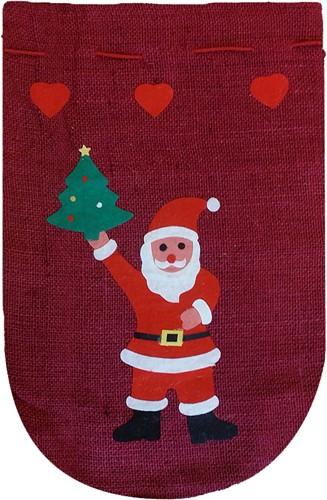 Jute Kerstzak Rood