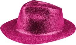 Disco Glitter Hoed Pink