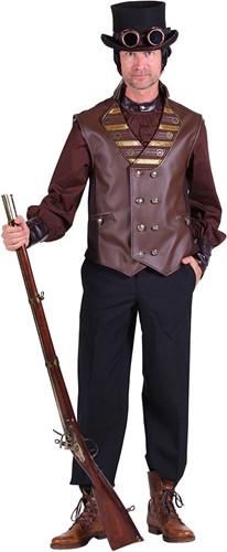 Steampunk Vest Luxe Bruin voor heren