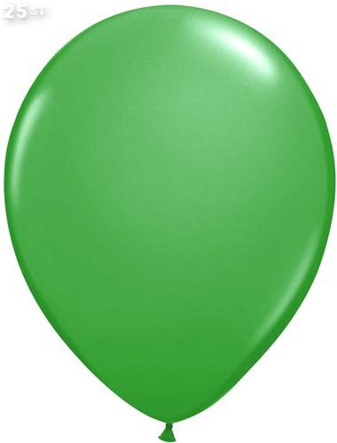 Ballonnen Metallic Groen 35cm - 25 stuks