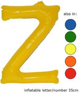 Opblaas Letter Z 35cm Oranje