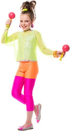 Hotpants Kinderen Neon Oranje