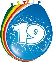 Ballonnen 19 jaar 8st