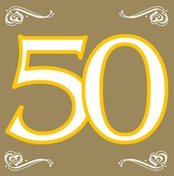 Servetten 50 Goud 20st