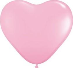 Hartballonnen Roze 38 cm 100 stuks