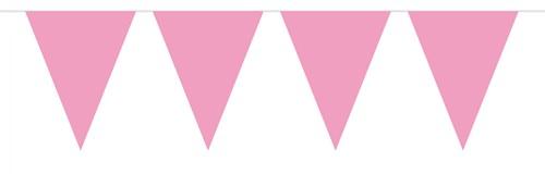 Mini Vlaggenlijn Roze 3mtr.