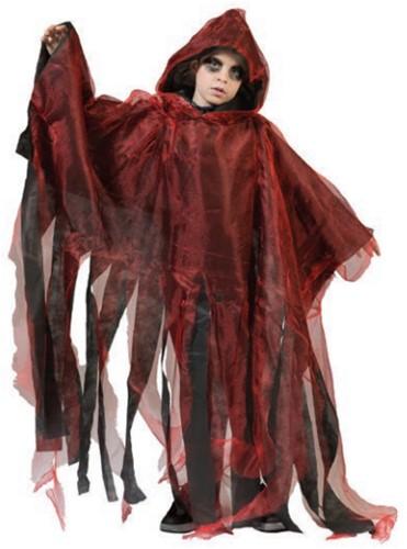 Kinder Halloween Cape Rood