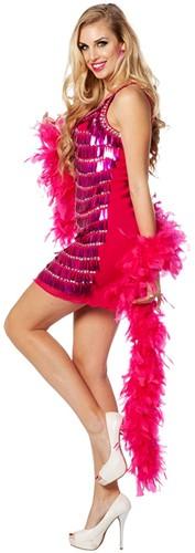 Jurkje Pailletten Pink (hangend)-2