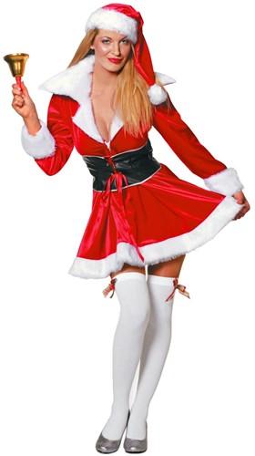 Dameskostuum Miss Santa Fluweel