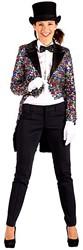 Dames Slipjas Multicolour Pailletten Luxe