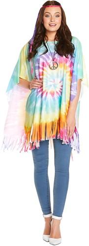 Hippie Poncho Tie-Dye