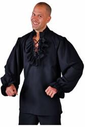 Hemd Piraat Luxe Zwart