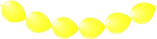 Doorknoopballonnen 8st. Geel