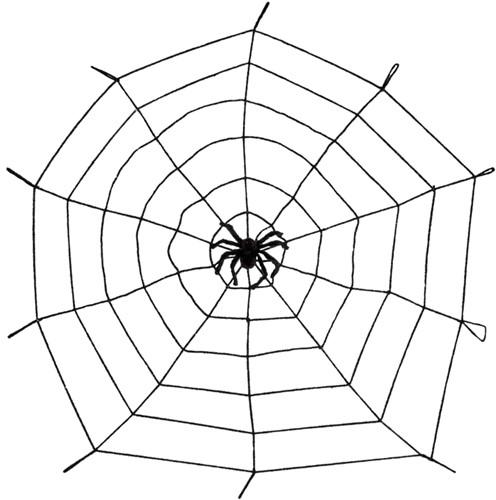 Spinnenweb Elastisch met Spin (150cm)