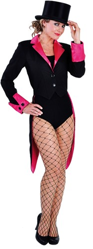 Slipjas Luxe Zwart Pink