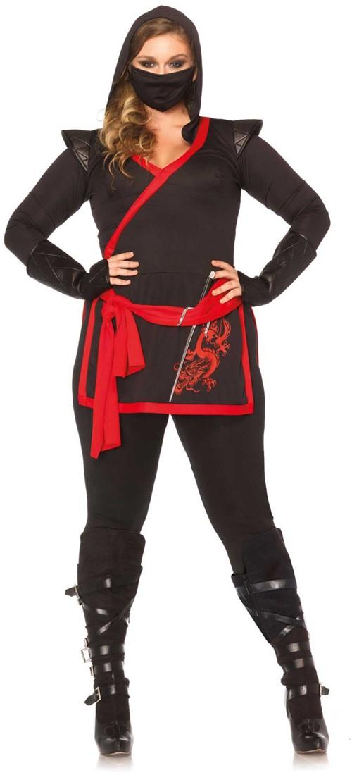 Carnavalskleding Dames Ninja.Dameskostuum Assassin Ninja Plus Szie