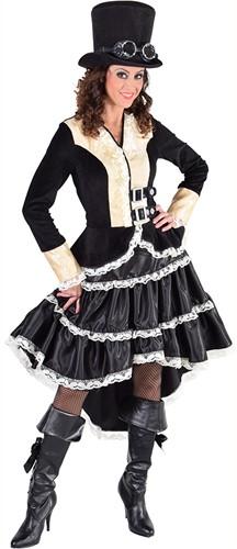 Damesjurk Steampunk Luxe Zwart