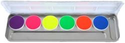 Aquacolor UV-Dayglow Palet 6 kleuren KRY