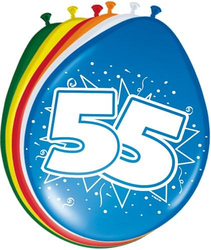 Ballonnen 55jaar 8st