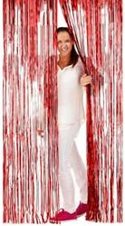 Deurgordijn Folie 2x1mtr Rood