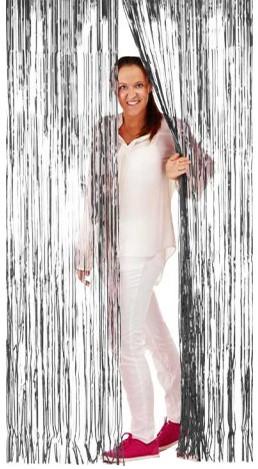 Deurgordijn Folie 2x1mtr Zilver