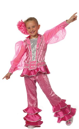 Meisjeskostuum Mama Mia Pink