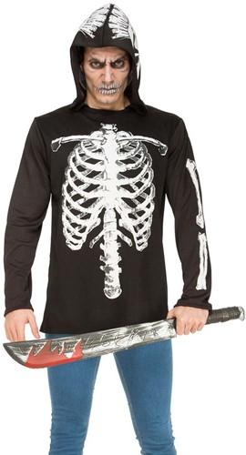 Hoodie Skelet Geraamte voor volwassenen