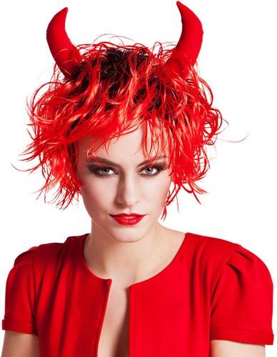 Pruik Curly Devil