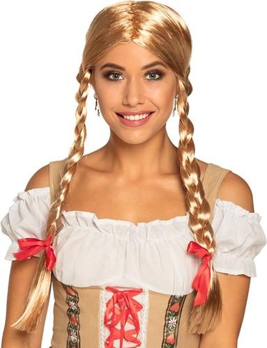 Pruik Heidi Blond